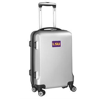 Denco Sports LSU Black/ Silver 20-inch Hardside Carry-on 8-wheel Spinner Suitcase