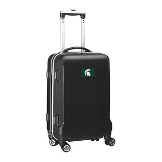 Denco Sports Michigan State Black ABS and Plastic 20-inch Hardside Carry-on 8-wheel Spinner Suitcase