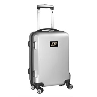 Denco Purdue Silver Plastic 20-inch Hardside Carry-on 8-wheel Spinner Suitcase
