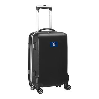 Denco Sports Detroit Tigers Black ABS 20-inch Hardside Carry-on 8-wheel Spinner Suitcase