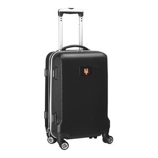 Denco Sports New York Mets Black ABS and Plastic 20-inch Hardside Carry-on 8-wheel Spinner Suitcase
