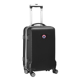 Denco Sports Washington Wizards Black ABS and Plastic 20-inch Hardside Carry-on 8-wheel Spinner Suitcase