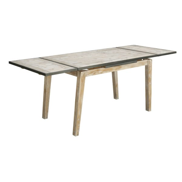 Emerald Synchrony Solid Pine Extension Gathering Table