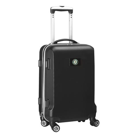 Denco Oakland A's Black 20-inch Hardside Carry-on 8-wheel Spinner Suitcase