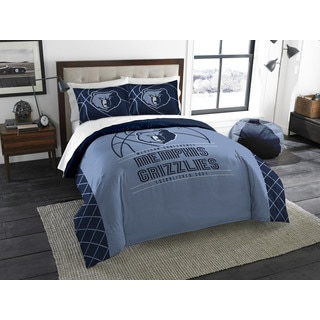 The Northwest Company NBA Grizzlies Reverse Slam Blue Polyester Full/Queen 3-piece Comforter Set