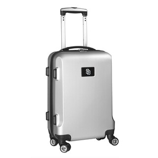 Denco Sports San Diego Padres Black/Silver ABS and Plastic 20-inch Hardside Carry-on 8-wheel Spinner Suitcase