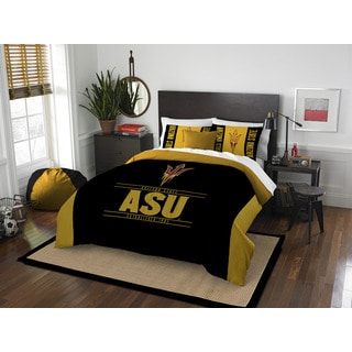 The Northwest Company COL Arizona State Modern Take Black and Gold Full/Queen 3-piece Comforter Set