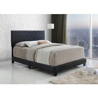 LYKE Home Espresso Upholstered Platform Bed