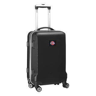 Denco Sports Detroit Pistons Black ABS and Plastic 20-inch Hardside Carry-on 8-wheel Spinner Suitcase