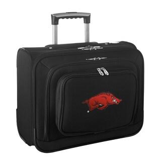 Denco Arkansas Black Nylon 14-inch Rolling Travel Business Tote Bag