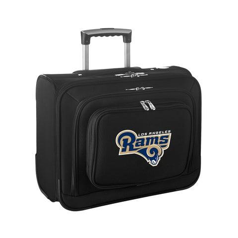 Denco Los Angeles Rams Black Nylon 14-inch Rolling Travel Business Tote Bag