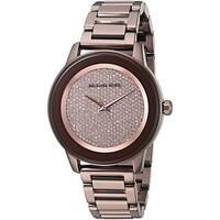 Michael Kors Women's  'Kinley' Crystal Brown Stainless Steel Watch