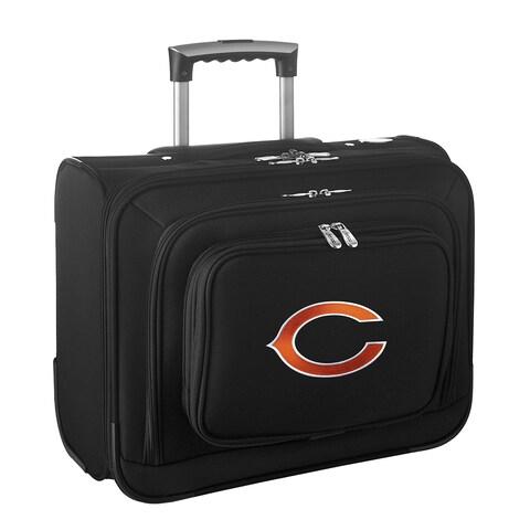 Denco Chicago Bears Black Nylon 14-inch Rolling Travel Business Tote Bag