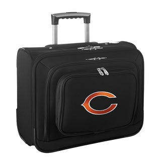 Denco Chicago Bears Black Nylon 14-inch Rolling Travel Business Tote Bag