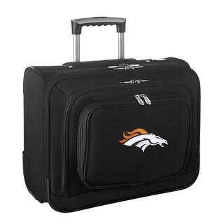 Denco Sports Denver Broncos Black Nylon 14-inch Rolling Travel Business Tote Bag