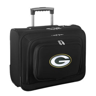 Denco Sports Green Bay Packers Black Nylon 14-inch Rolling Travel Business Tote Bag