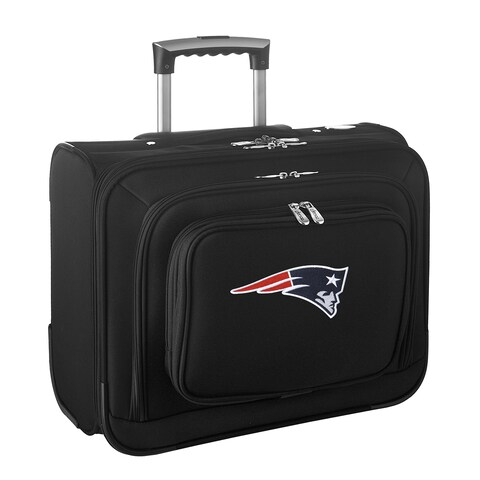 Denco New England Patriots Black 14-inch Rolling Travel Business Tote Bag