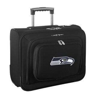 Denco Seattle Seahawks Black Nylon 14-inch Rolling Travel Business Tote Bag