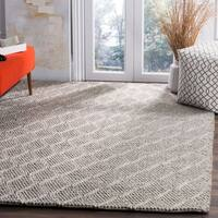 Safavieh Manhattan Contemporary Handmade Grey Wool Rug - 4' x 6'