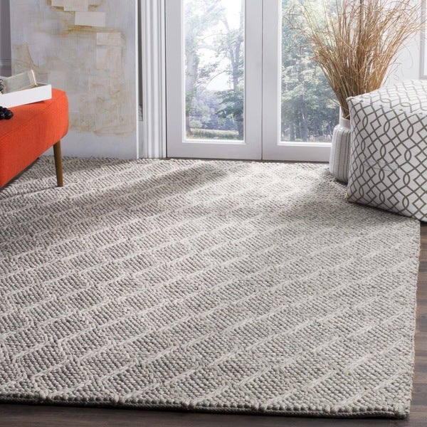 Safavieh Manhattan Contemporary Handmade Grey Wool Rug (4' x 6')