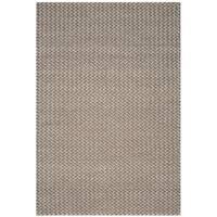 Safavieh Manhattan Contemporary Handmade Camel/ Grey Wool Rug - 4' x 6'