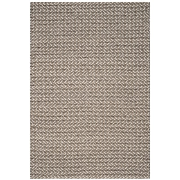 Safavieh Manhattan Contemporary Handmade Camel/ Grey Wool Rug - 4' x 6'