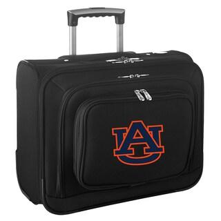 Denco Auburn Black Nylon 14-inch Rolling Travel Business Tote Bag