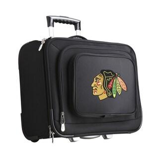Denco Chicago Blackhawks Black Nylon 14-inch Rolling Travel Business Tote Bag
