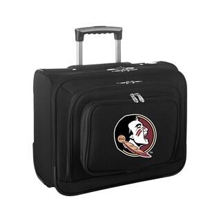 Denco Florida State Black Nylon 14-inch Rolling Travel Business Tote Bag