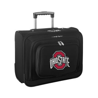 Denco Ohio State 14-inch Rolling Business Travel Tote Bag