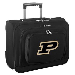 Denco Sports Purdue Black Ballistic Nylon 14-inch Rolling Travel Business Tote Bag