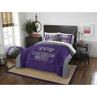 The Northwest Company COL TCU Modern Take Grey/Purple Full/Queen 3-piece Comforter Set