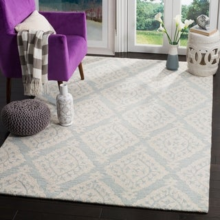 Safavieh Micro Loop Handmade Light Blue Wool Rug (4' x 6')