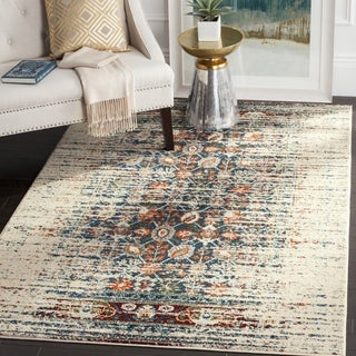 Safavieh Monaco Vintage Distressed Ivory / Blue Distressed Rug (3' x 5')