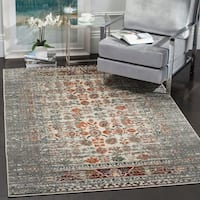 Safavieh Monaco Vintage Distressed Grey / Ivory Distressed Rug - 4' x 5'7""