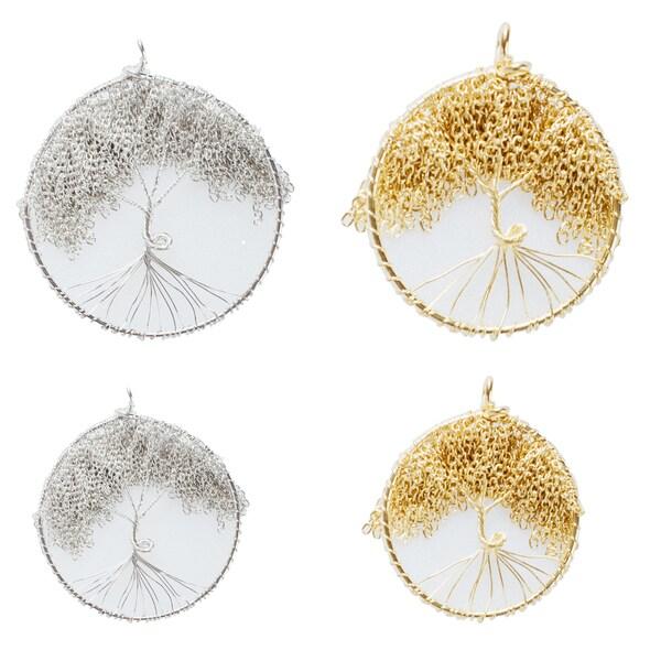 ed76e3f2bbc1d0 Shop Handmade Tree of Life Pendant With Faux Leather Cord (India ...