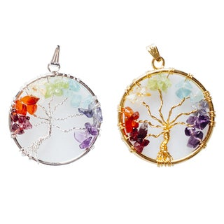Tree of Life Pendant with Semi Precious Stones