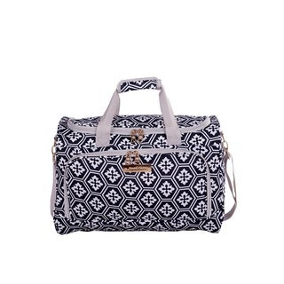Jenni Chan Aria Polyester 17-inch Snowflake-patterned Carry-on Duffel Bag