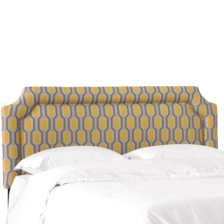 Skyline Furniture Yellow Hexagon Print Upholstered Headboard