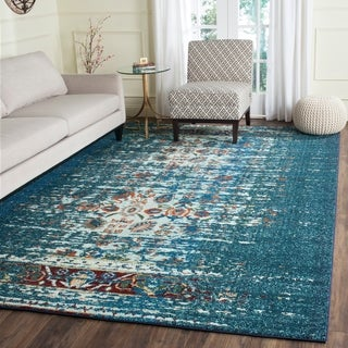 Safavieh Monaco Vintage Distressed Blue/ Ivory Distressed Rug (4' x 5' 7)