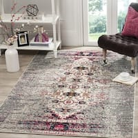 Safavieh Monaco Vintage Chic Distressed Grey/ Ivory Rug - 3' x 5'