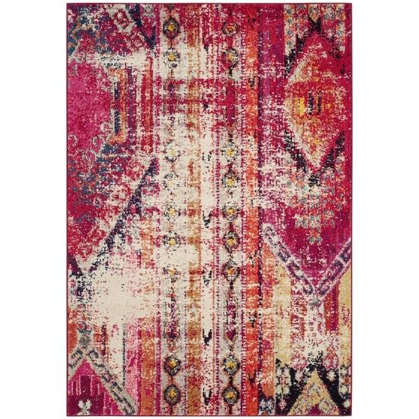 Shop Safavieh Monaco Vintage Bohemian Magenta Pink/ Multi