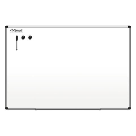 "Thornton's Office Supplies Aluminum Frame 36-inch x 24-inch Dry Erase Whiteboard - 36"" x 24"""