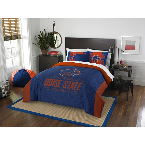 The Northwest Company COL 849 Boise State Modern Take Full/Queen 3-piece Comforter Set