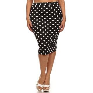 MOA Collection Plus-size Women's Polka Dot Skirt