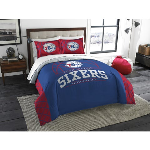 The Northwest Company NBA Philadelphia 76ers Reverse Slam Full/Queen 3-piece Comforter Set