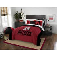 The Northwest Company Rutgers Modern Take Red and Black Polyester Full/Queen 3-piece Comforter Set