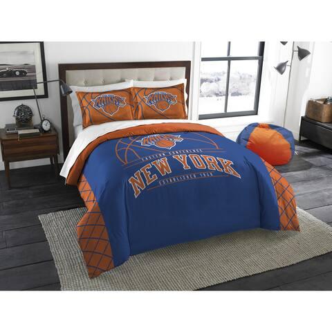 The Northwest Company NBA New York Knicks Reverse Slam Full/Queen 3-piece Comforter Set