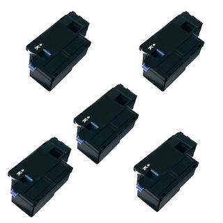 5PK Compatible Dell C1660 BK Toner Cartridge For Dell C1660 ( Pack of 5 )