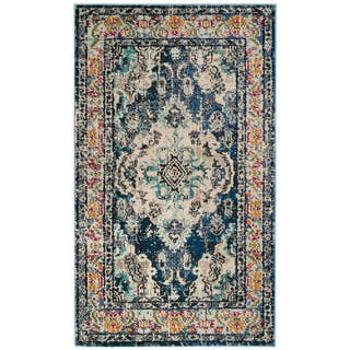 Safavieh Monaco Bohemian Medallion Navy / Light Blue Distressed Rug (3' x 5')|https://ak1.ostkcdn.com/images/products/13262250/P19974398.jpg?impolicy=medium